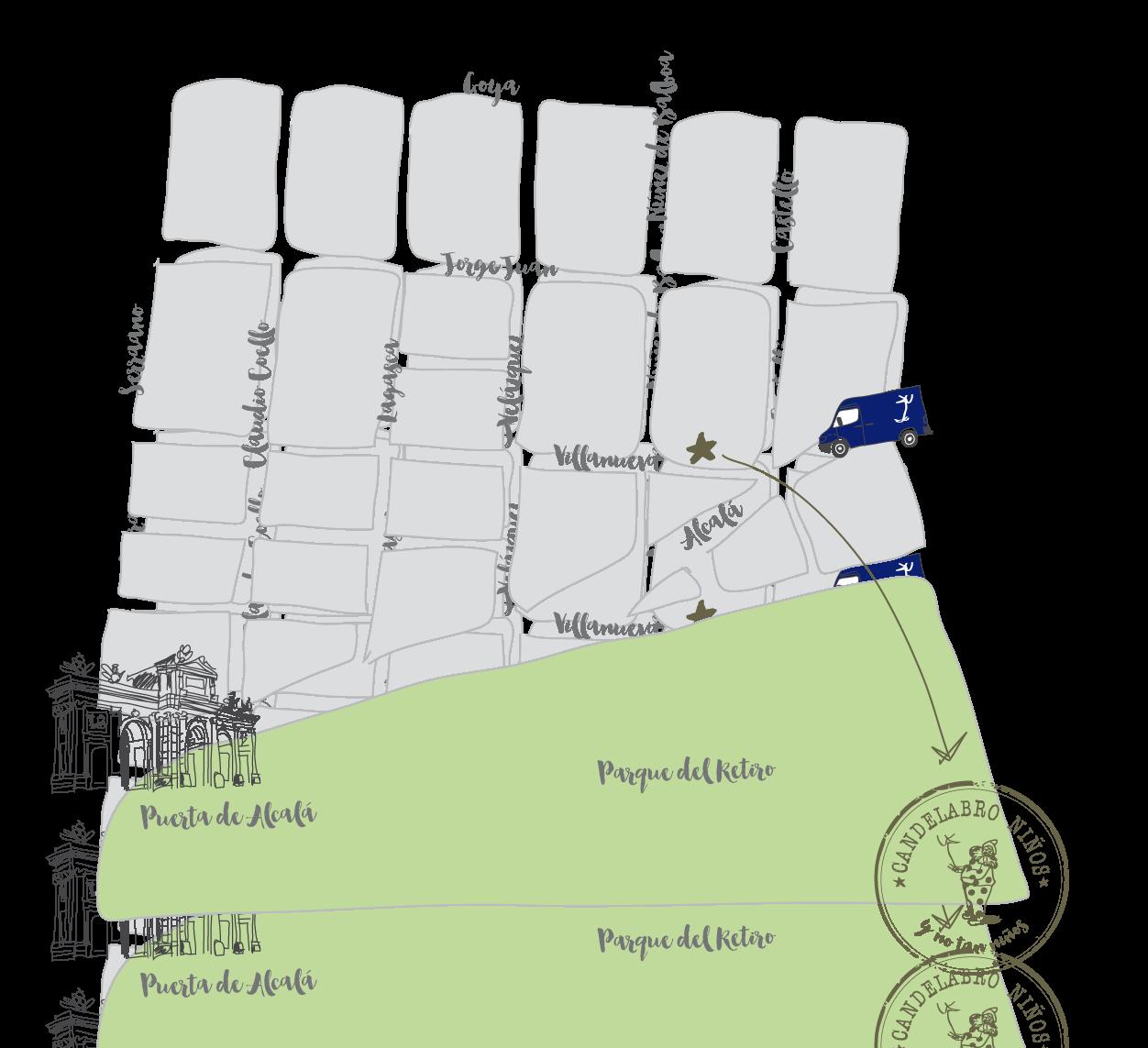 Plano de situación de Candelabro