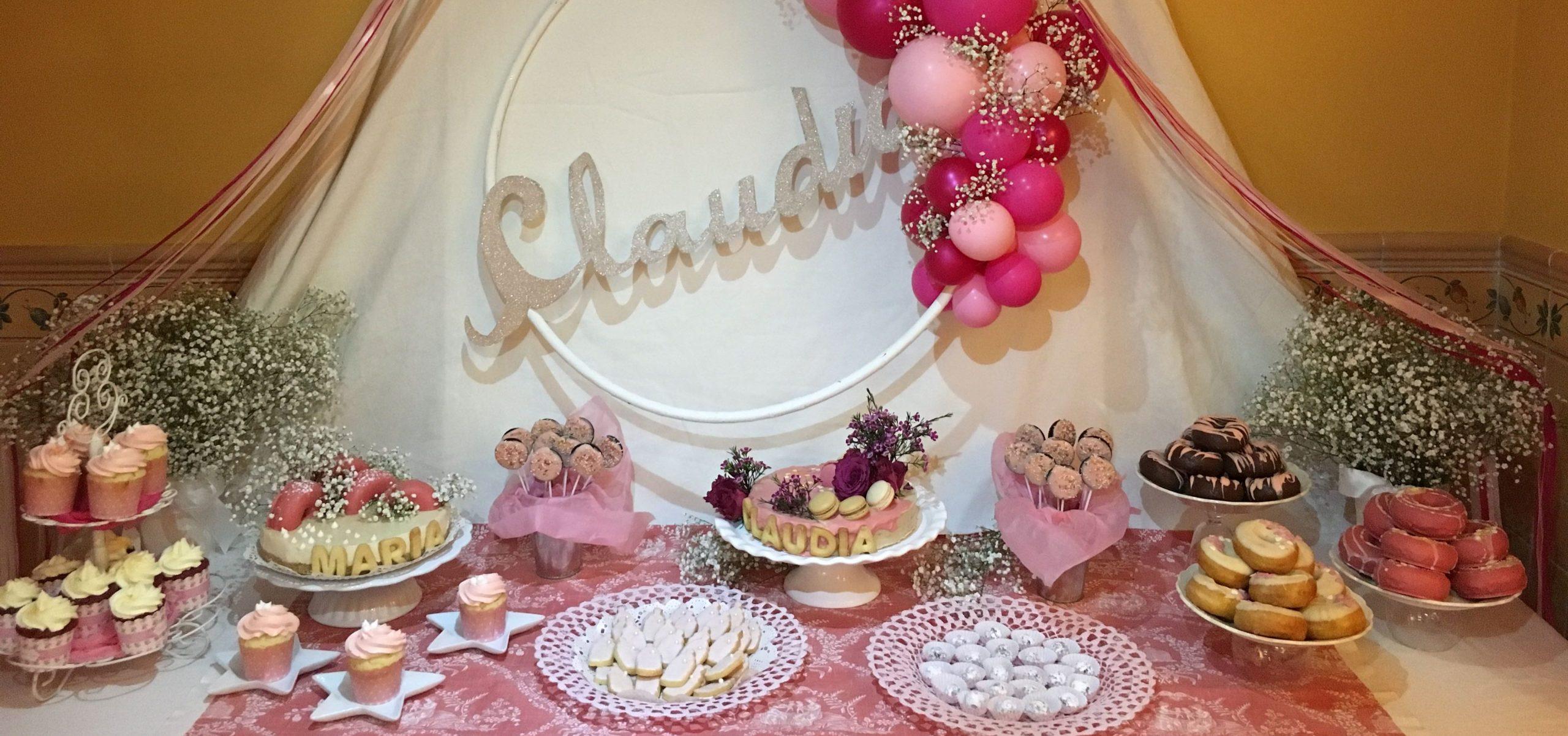 Mesa dulce babyshower Claudia